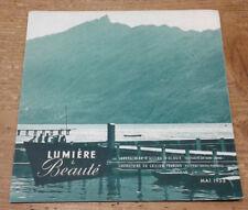 Lumière et Beauté, Mai 1953: Lacs de Savoie