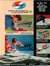 1965 PAPER AD 4 PG Structo Toy Trucks Van Line Tow Wrecker US Mail Camper Logger