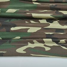 "2-YARDS Jungle Woodland Camouflage Net Cover Military 60""W Mesh Fabric Cloth"