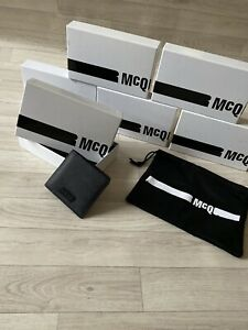 MCQ Alexander McQueen Bi Fold black leather wallet new in box with dust bag