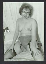 Older Female Nerdy Glasses 1950 Photo Librarian Secretary Stokcings Mature Q1041