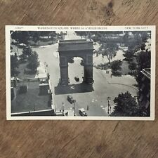 Washington Square, Where 5th Ave Begins. New York City  USA Postcard. Ref015