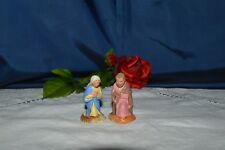 2 Antique Santones Devineau Joseph and Mary / 5,5 CM