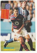Rob Lee Newcastle Utd David Hirst Sheffield mer originale signée magazine découpe