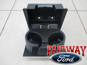 08 thru 10 Super Duty OEM Ford In-Dash Instrument Panel Cup Holder CAMEL - TAN