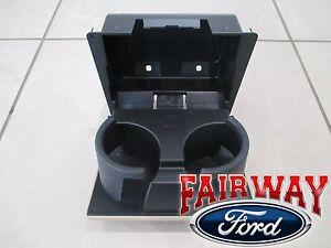 08 thru 10 Super Duty OEM Ford In-Dash Instrument Panel Cup Holder CAMEL - TAN