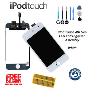 NEW LCD & Touch Screen Assembly FOR iPod Touch 4th Gen (A1367) w/Tools - WHITE