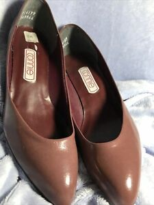 CONNIE BROWN COMFORT ROUND TOE CAREER PUMP SHOES 8 M EUC