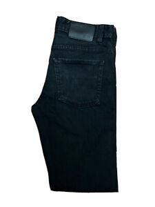 Original Hugo Boss Delaware3 Slim Fit Black Stretch Denim Jeans W30 L32 ES 8271