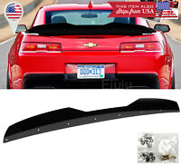 Add on Rear Trunk Decklid Gurney Flap Wicker bill For 14-15 Camaro Z28 Spoiler