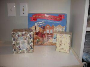 Enesco Lot of 3 Cherished Teddies Glenn, Kurtis, 5 Year Club Orig Box jta