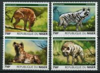 Niger Wild Animals Stamps 2015 MNH Hyenas Striped Spotted Hyena Fauna 4v Set