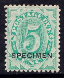 Australia fivepence postage due stamp with Specimen overprint