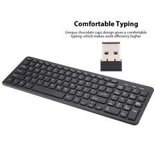 2.4Ghz 96-Key Wireless Keyboard+USB Receiver For PC Laptop Smart TV Box Black TG