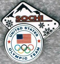 2014 Sochi Mountains and Snowflakes USA Olympic Team NOC Pin