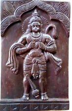 Hindu God Hanuman Wooden Temple Wall Panel Statue Garuda Sculpture Decor Art
