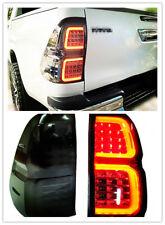 Car LED Tail Light Rear Brake Lamp Fit For Toyota Hilux Pickup Revo 15-17 Smoked