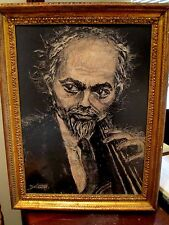 Abraham Rattner Portrait of a Man With Instrument Musician Multimedia Painting