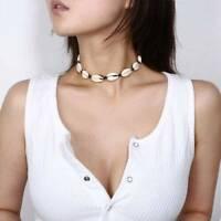 Vintage Boho Beach Sea Shell Pendant Chain Choker Necklace Charm Jewelry Gift