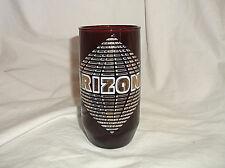 Anchor Hocking Royal Ruby Arizona Souvenir Tumbler Glass 10 oz Roadrunner