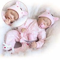 "22""Handmade Lifelike Baby Girl Doll Silicone Vinyl Reborn Newborn Dolls"