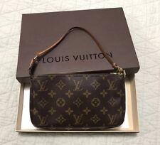 Auth Louis Vuitton Pochette Accessoires Clutch Monogram Canvas