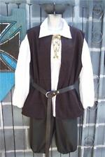 Mens Pirate Renaissance Pirates of Caribbean Costume Shirt Knickers Vest Large