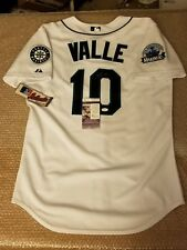 Dave Valle Signed Authentic Majestic Mariners 30th Ann. Edition Jersey JSA COA