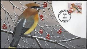 CURTISS POORMON Hand Painted : 2016 the Cedar Waxwing - from Songbirds in Snow