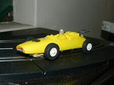 Eldon 1/32nd scale slot car Yellow Indy car