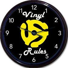 "Vinyl Record 45 Rpm Insert Adapter Wall Clock Vinyl Rules New 10"""