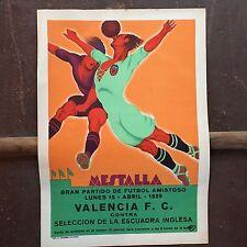 Original Small Poster Valencia V England 1929 Art Deco