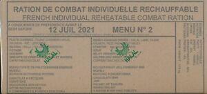 Ration de combat francaise HALAL  Menu 2  DLUO  07/21 RCIR-MRE COLLECTOR