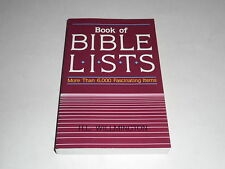 Book Of Bible Lists by Harold L. Willmington 1987 Topical Scriptual Facts