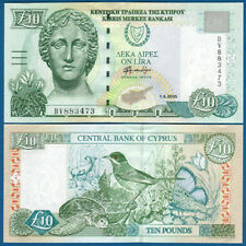 ZYPERN / CYPRUS  10 Pounds 1.4.2005  UNC  P. 62 e