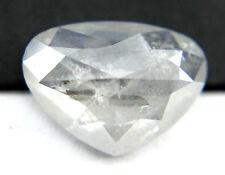 1.95Cts Heart Shape Sparkling White Color Rose Cut Diamond 10.38x7.62x3.28 MM