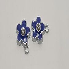 5 pieces 12x15mm Fleur en Alliage de Zinc émail charme Pendentifs-a0703