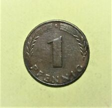 Germany 1 Pfennig 1948-G Extremely Fine Coin - Five Oak Leaves