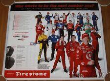 2004 Indy Car Promo Poster Dixon de Ferran Helio Wheldon Dario Kanaan Hornish