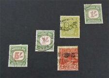 nystamps British Australia Stamp # J81//O4 Used $60   A9y1358