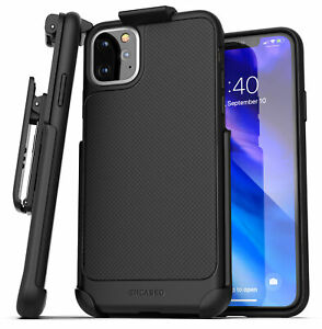 For iPhone 11 / Pro Max Belt Clip Case Thin Slim Grip Cover Holster Black