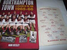 NORTHAMPTON TOWN  1st division  1965/66 V BLACKBURN SIGNED & MARK BEESLEY BOOK