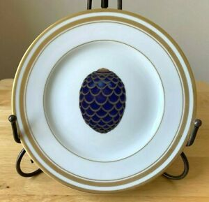 FABERGE IMPERIAL EGG COLLECTION Pine Cone Egg Plate - Limoges France - EUC