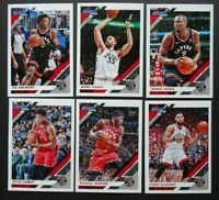 2019-20 Panini Donruss Toronto Raptors Base Team Set of 6 Basketball Cards