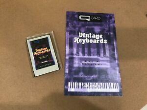 Alesis Vintage Keyboards QCard w/Booklet, Case, QS Card Rare