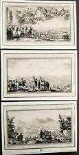 3 gravures par Pierre SOUBEYRAN et Pierre CHEDEL Batailles