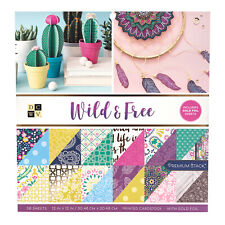 AC DCWV Printed Cardstock Premium Stack - Wild and Free, Gold Foil - 36 Sheets