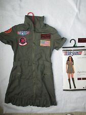 Top Gun Sexy Womans Halloween Costume Dress Pilot Outfit w/ Sunglasses Complete