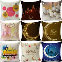 "18"" Muslim Ramadan Pattern Cotton Linen Cushion Cover Pillow Case Home Decor"