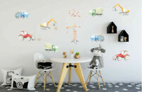 Construction Vehicle Kids Wall Decal Nursery Boys Decor Stickers Art Mural Gift